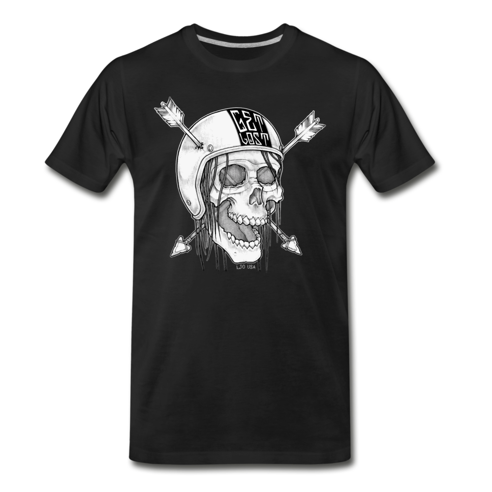 Get Lost Skull T-Shirt - black