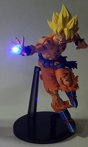 Dragon Ball Z Goku & Burdock LED Statue
