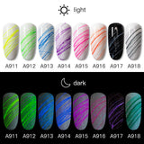Nail Art Luminous Spider Gel Fashion 8 colors Phototherapy Glue Nail Painted Art Professional Glue
