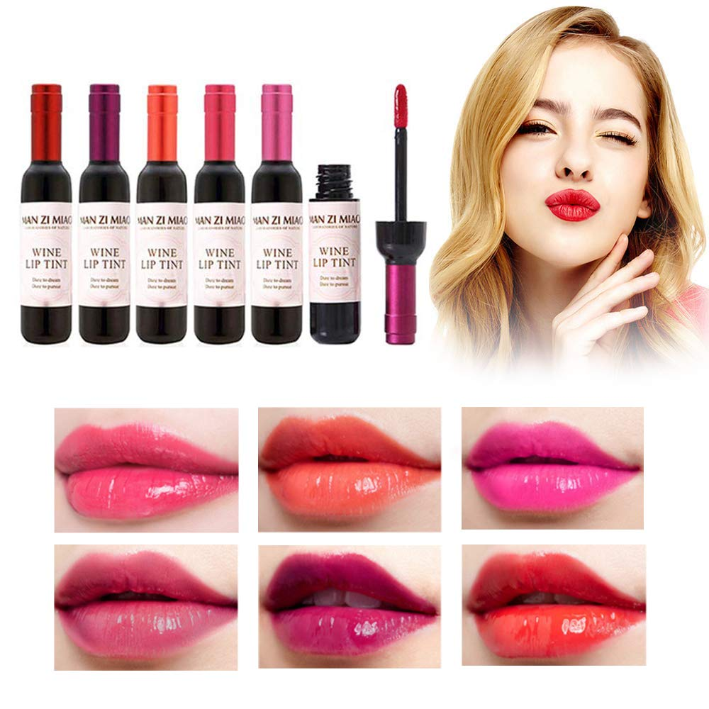 Wine Red Lip gloss Lip Tint Baby Pink Lip For Women Makeup Liquid red lips Cosmetic