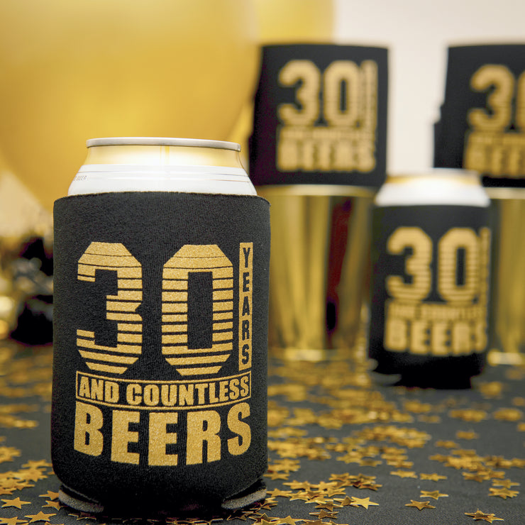 30th Birthday Can Coolers 12-Pack