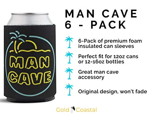 Man Cave Can Coolers 6-Pack