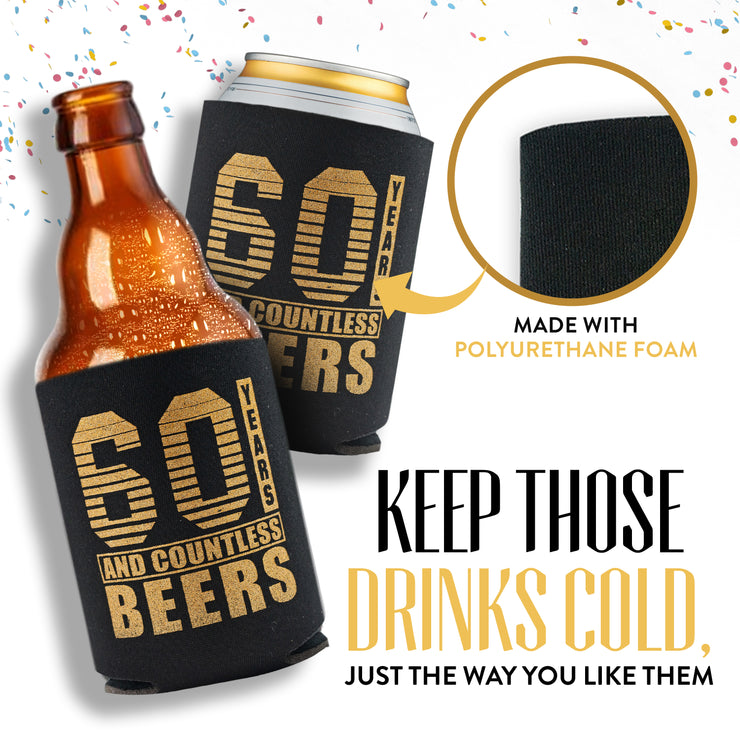 60th Birthday Can Coolers 12-Pack