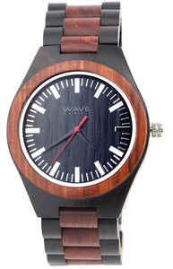 WAVE HAWAII Holzuhr Men Sandelholz + Ebenholz