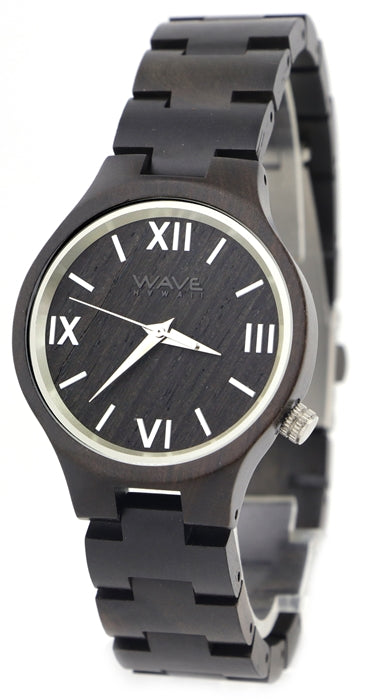 WAVE HAWAII wooden watch Woman ebony dark