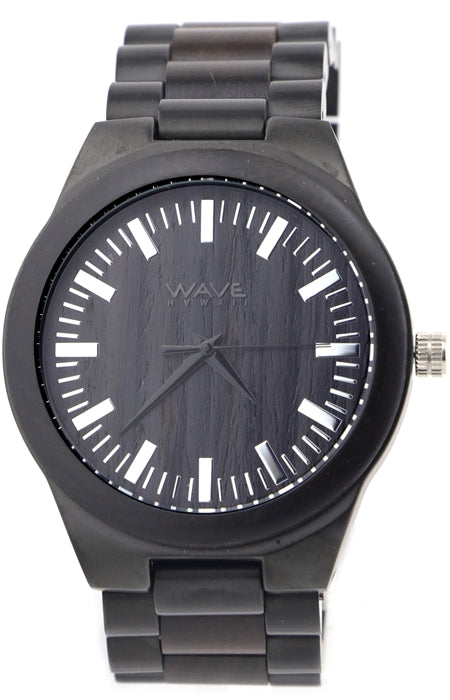 WAVE HAWAII Holzuhr Men Ebenholz + M