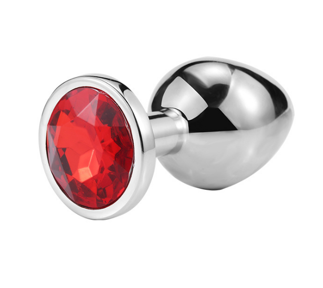 Butt plug - Red Crystal - Large