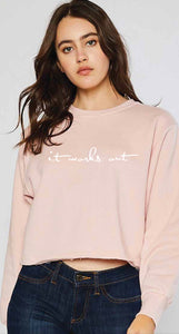 Mauve Crop Sweatshirt