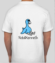 Load image into Gallery viewer, Rob&Kenneth Cool Blue Swan White Tee