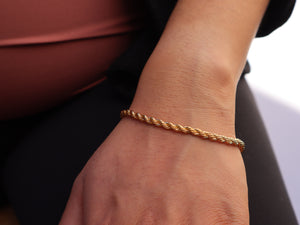 ROPE CHAIN 14K GOLD BRACELET