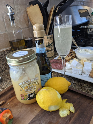 Local Honey French 75 Cocktail