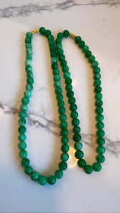 Purity jade beaded necklace