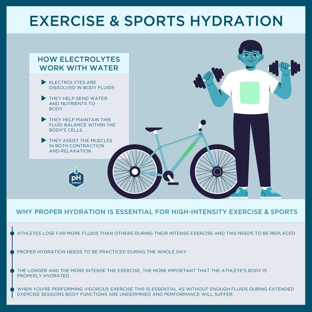 Exercise & Sports Hydration Infographic