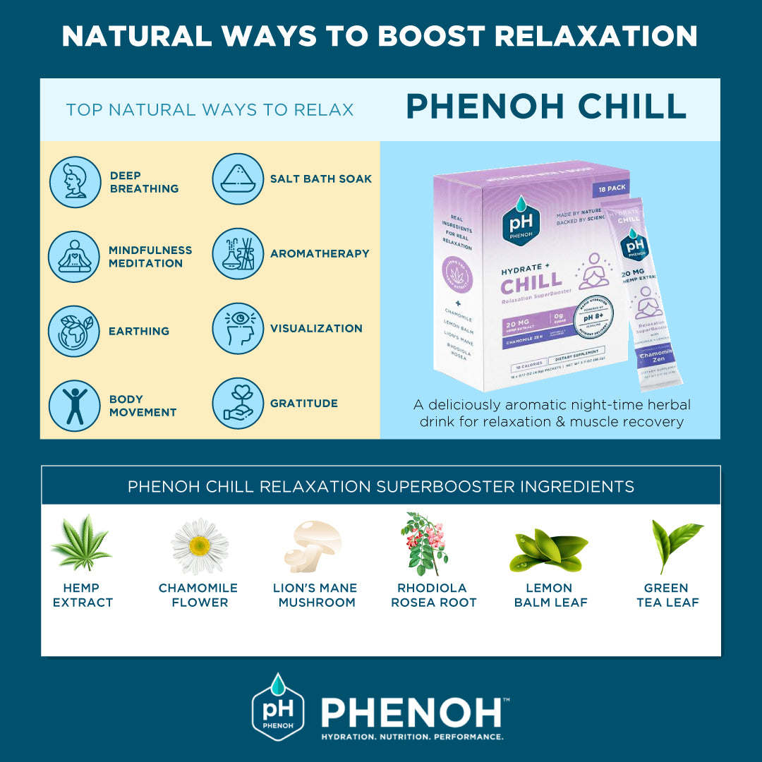 Natural Ways To Boost Relaxation Infographic