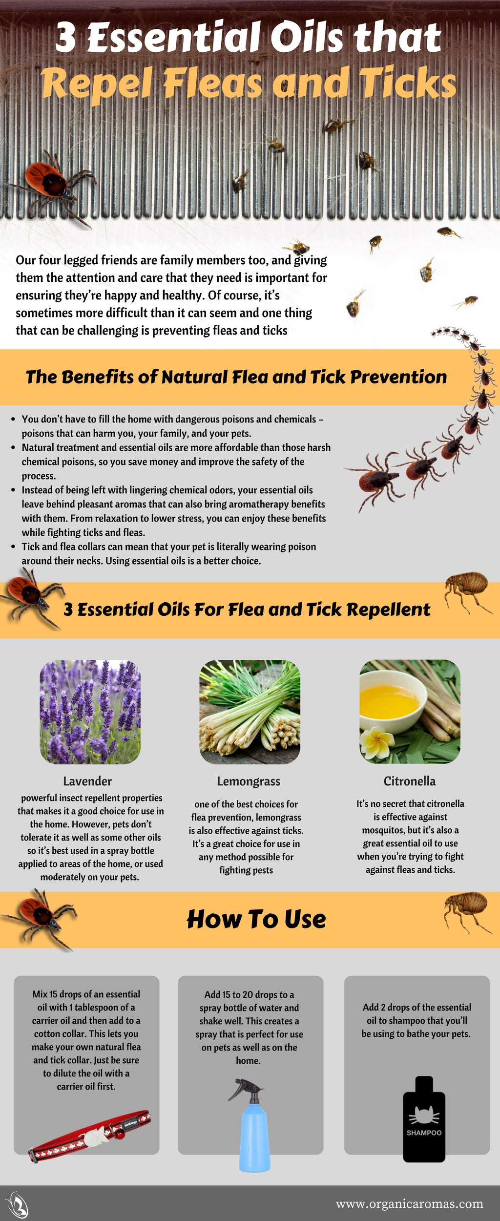 3 Essential Oils that Repel Fleas and Ticks - Organic Aromas®
