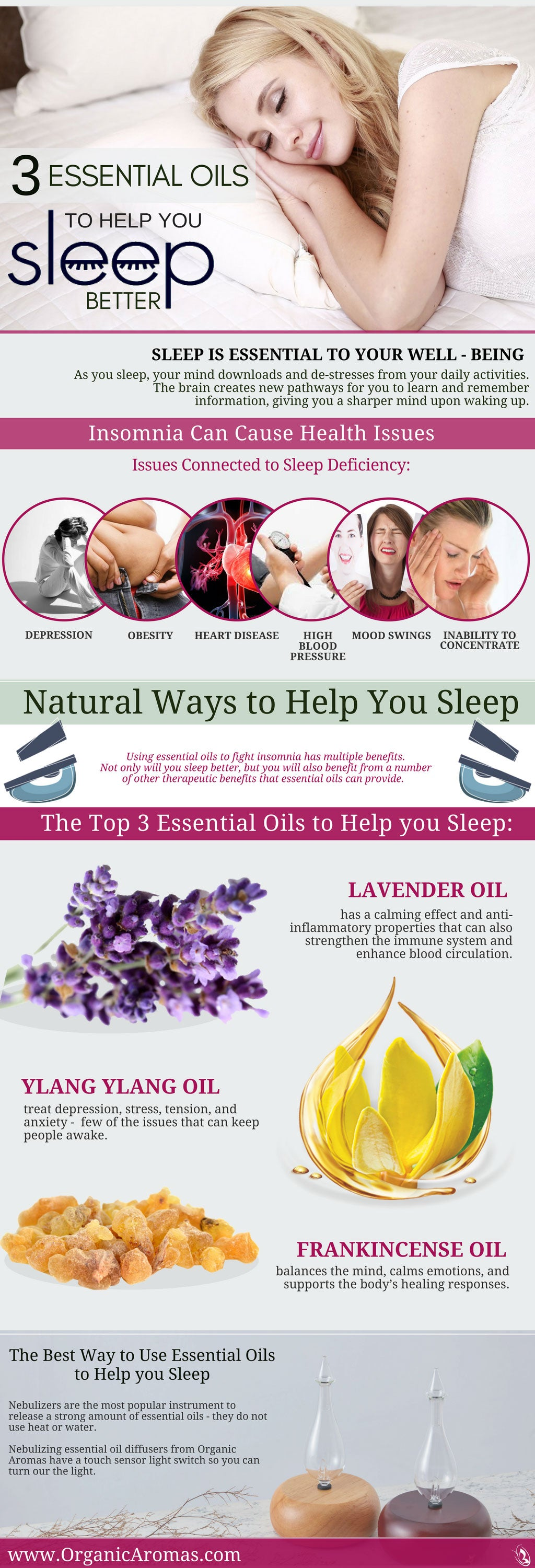 3 essential oils to help you sleep better - organic aromas