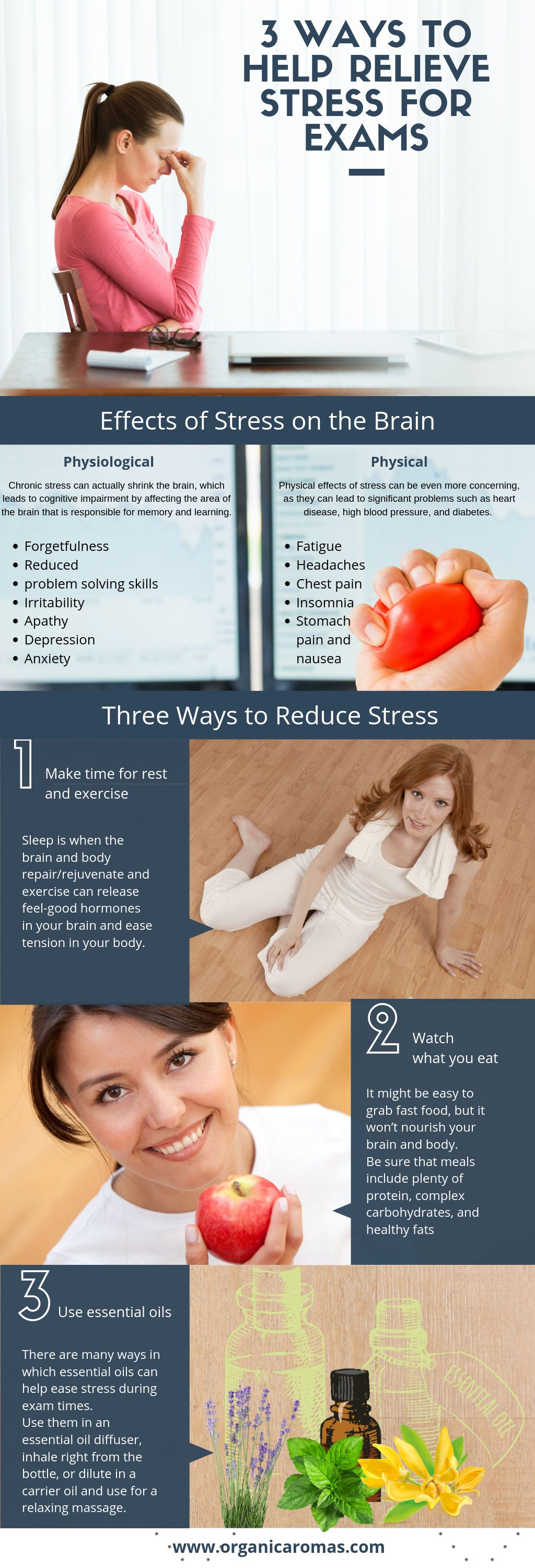 3 Ways to Help Relieve Stress for Exams