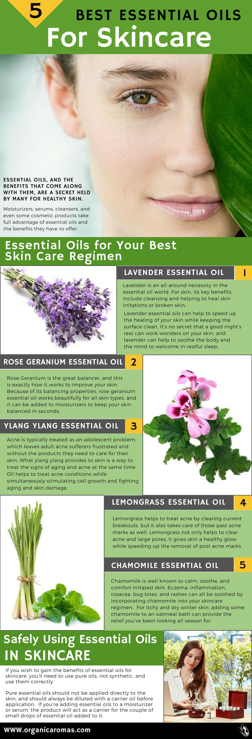5 Best Essential Oils for Skincare