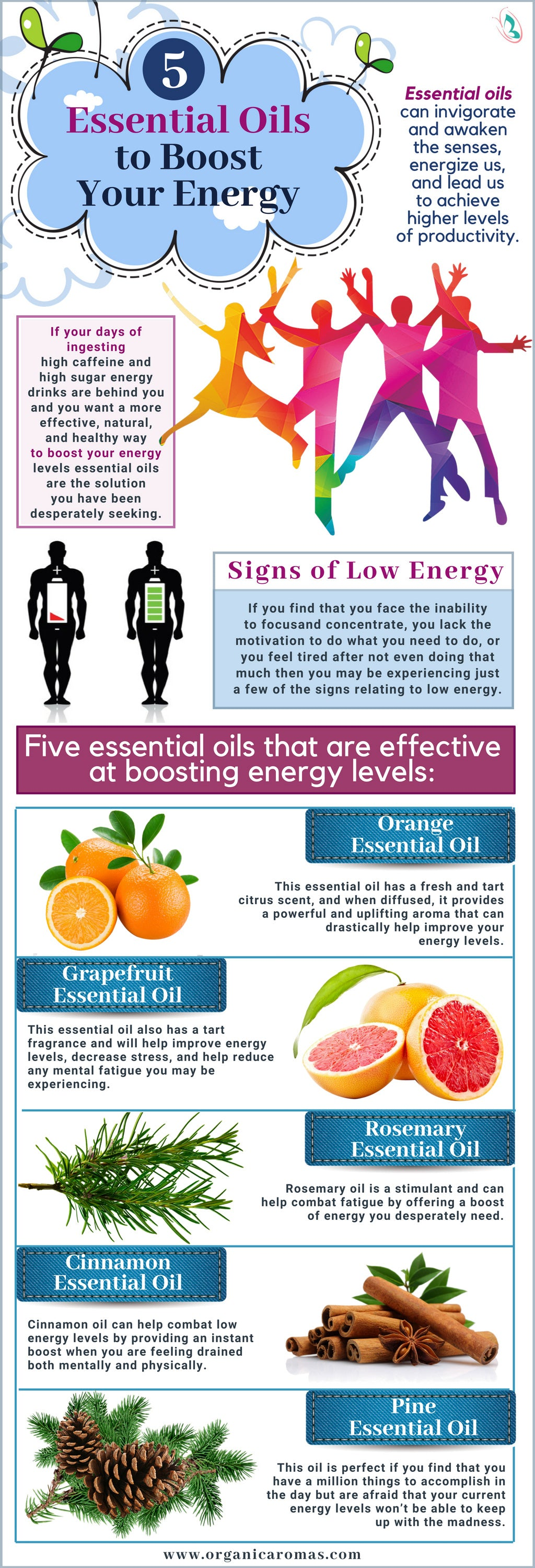 5 Essential Oils to Boost Your Energy