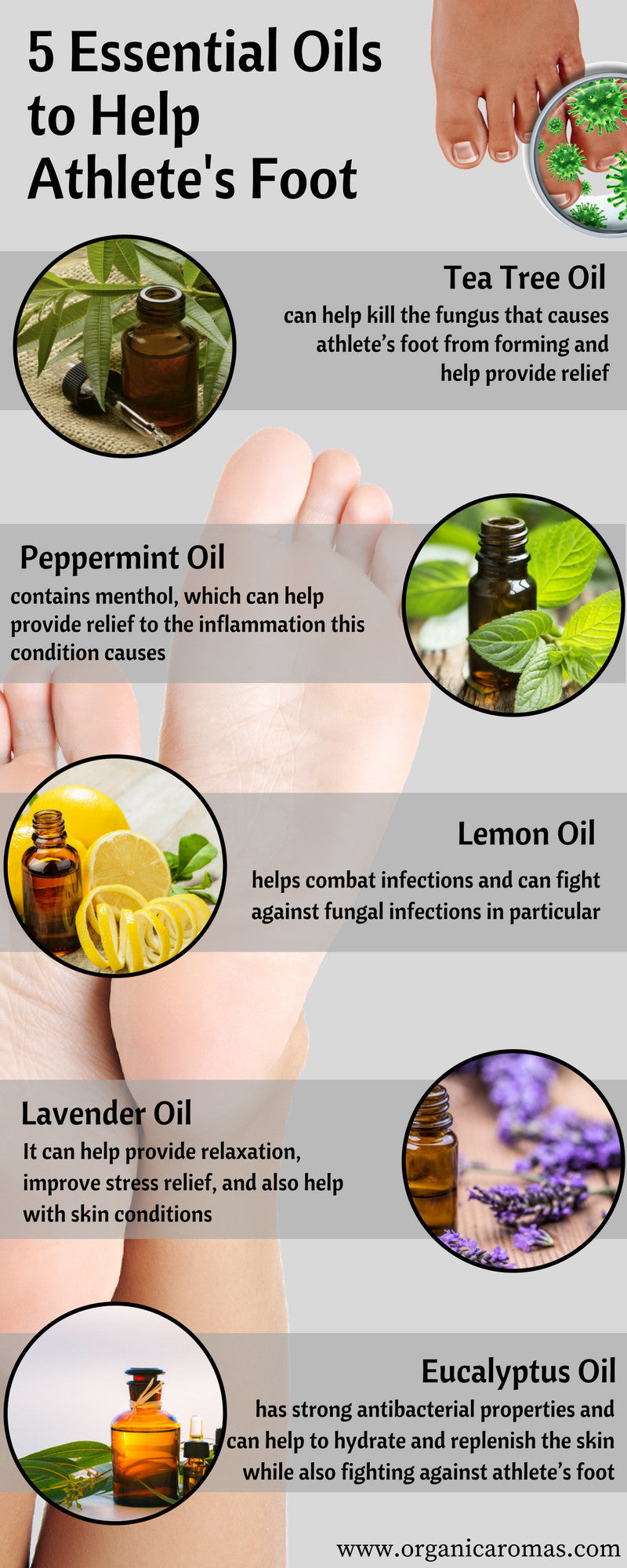 5 Essential Oils to Help Athlete's Foot Naturally - Organic