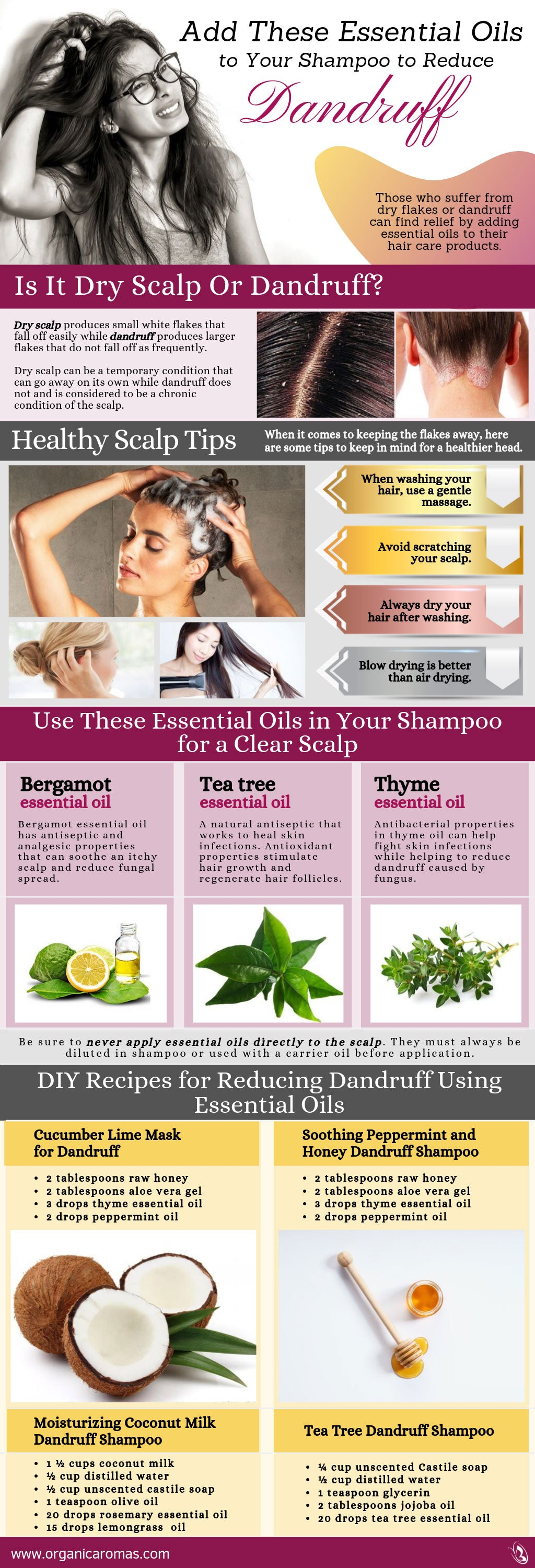 Add These Essential Oils To Your Shampoo To Reduce Dandruff Organic Aromas