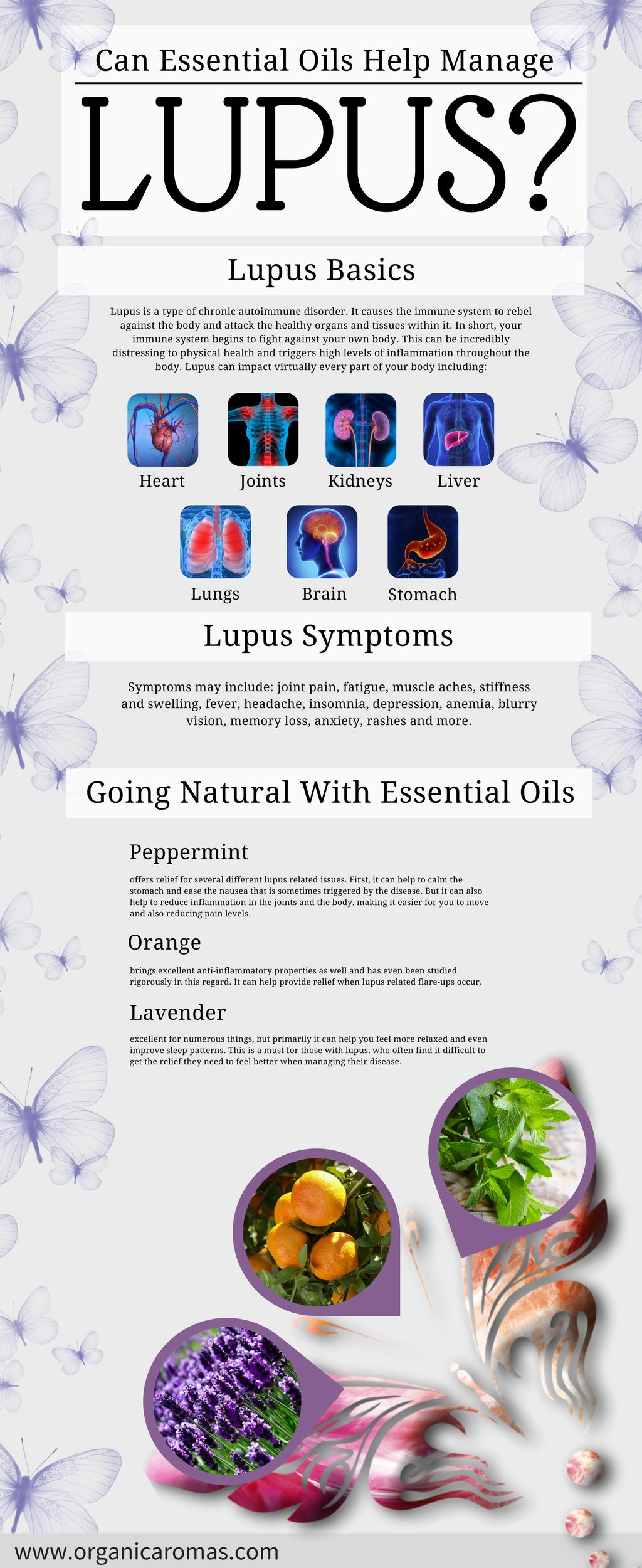 Can Essential Oils Help Manage Lupus? Info-graphic