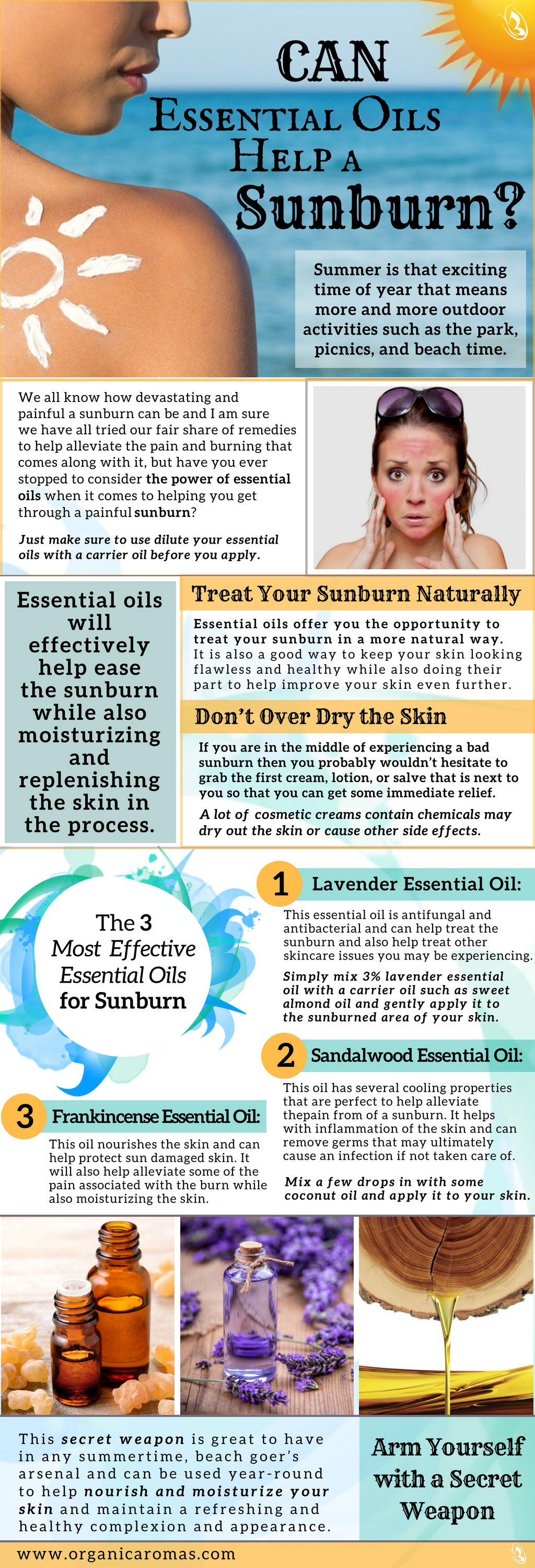 Can Essential Oils Help a Sunburn?