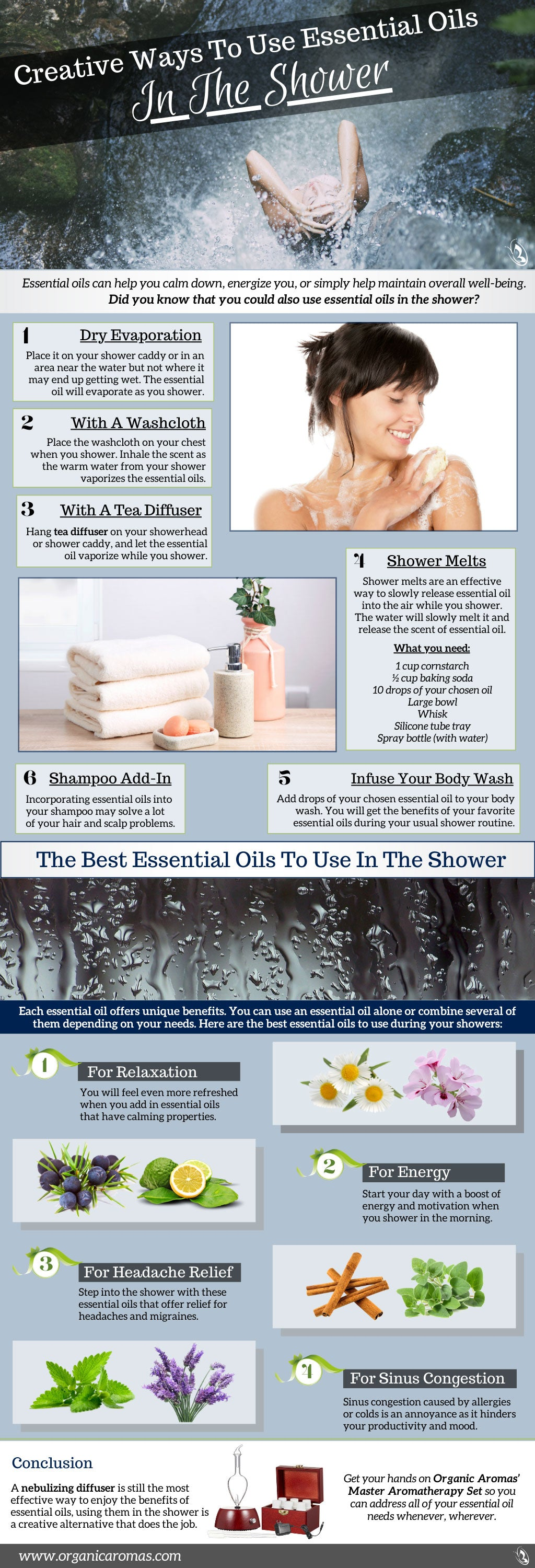 Creative Ways To Use Essential Oils In The Shower