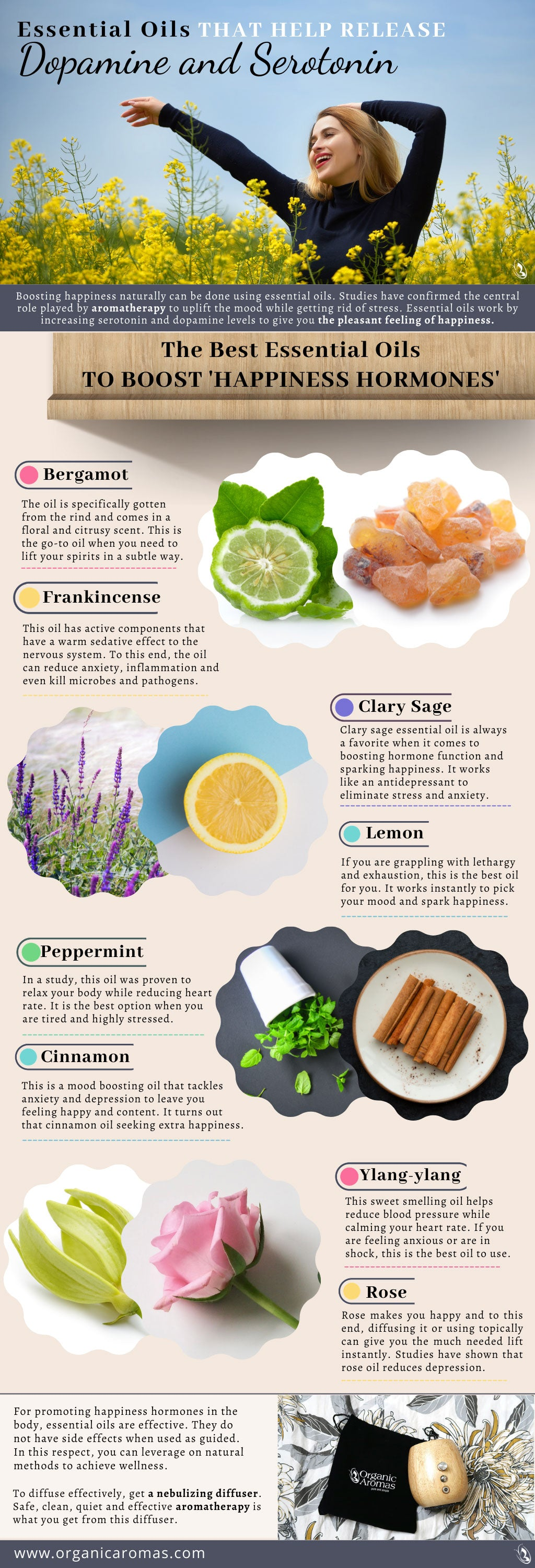 Essential Oils That Help Release Dopamine and Serotonin