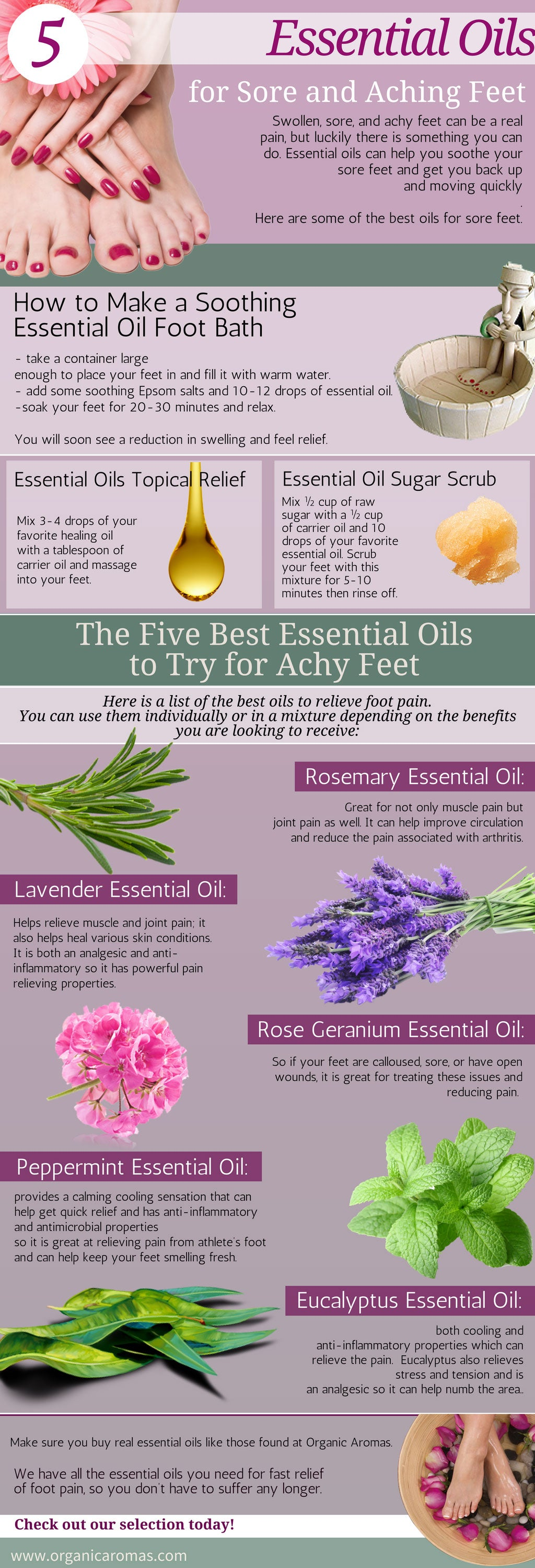 5 Essential Oils For Sore And Aching Feet Organic Aromas