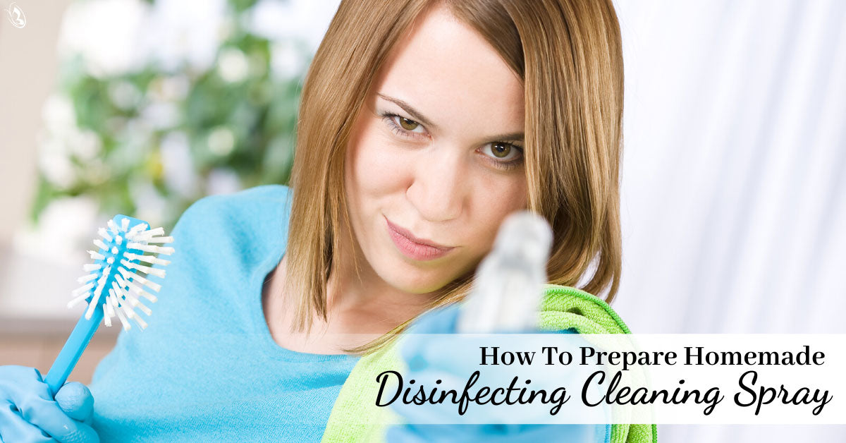 How To Prepare Homemade Disinfecting Cleaning Spray