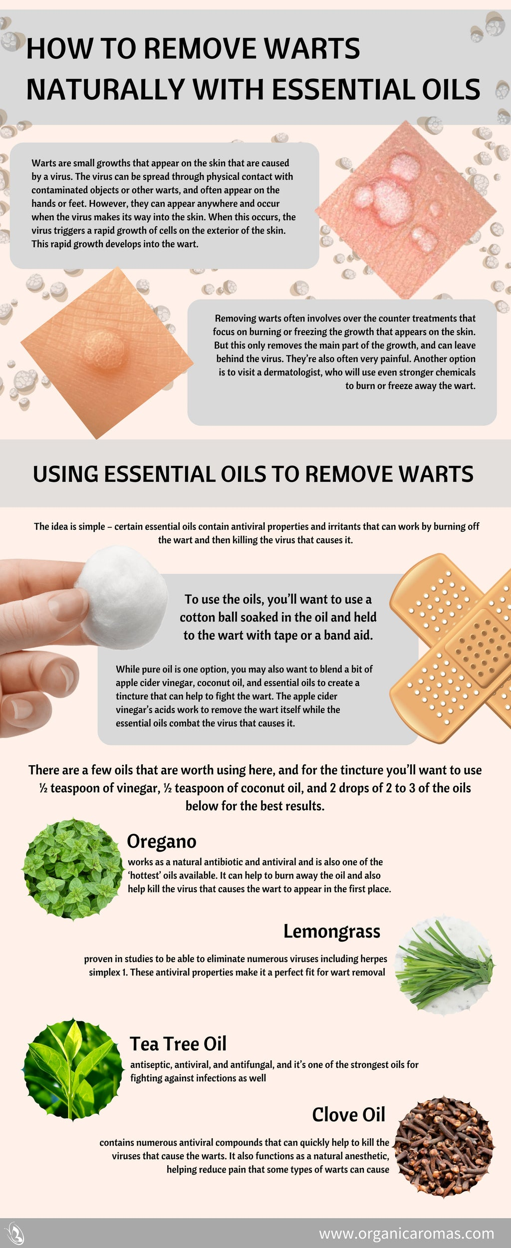How to Remove Warts Naturally With Essential Oils - Organic Aromas