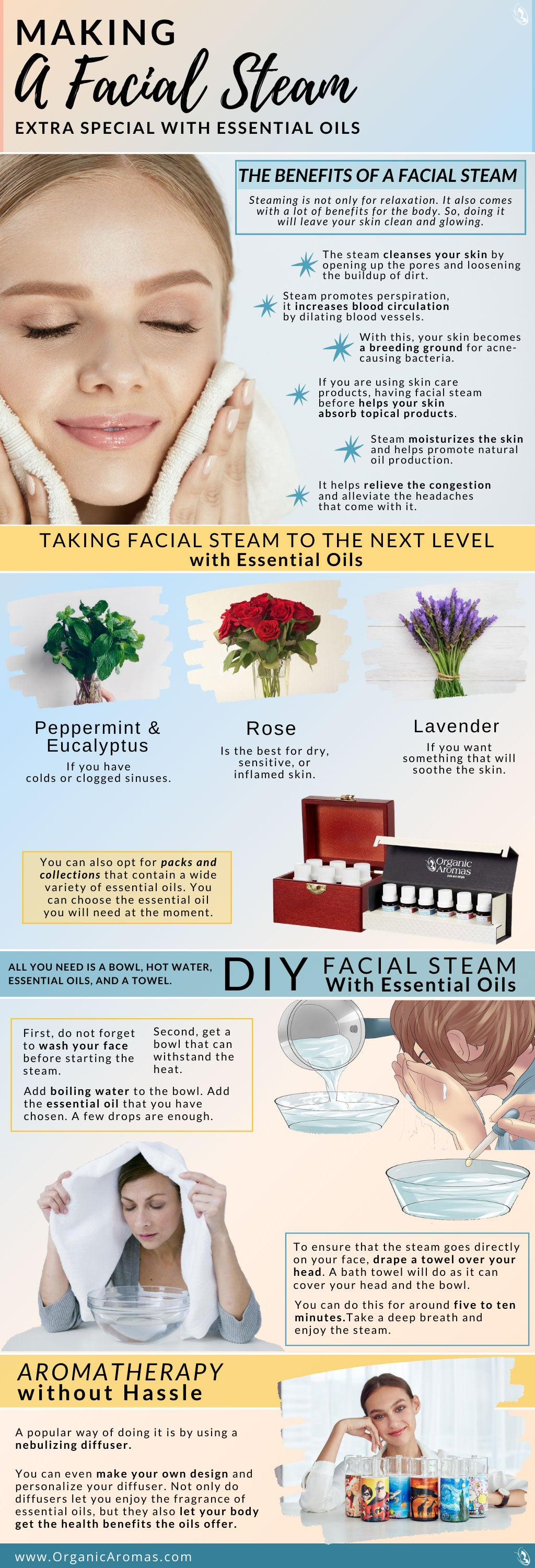 Making A Facial Steam Extra Special with Essential Oils