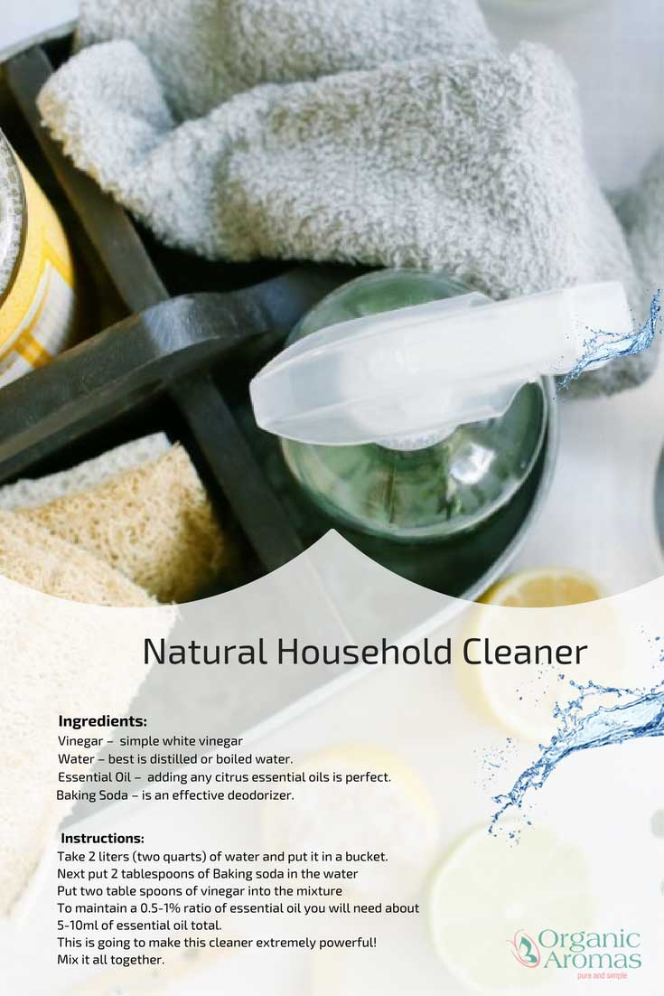 Natural Household Clearner Recipe
