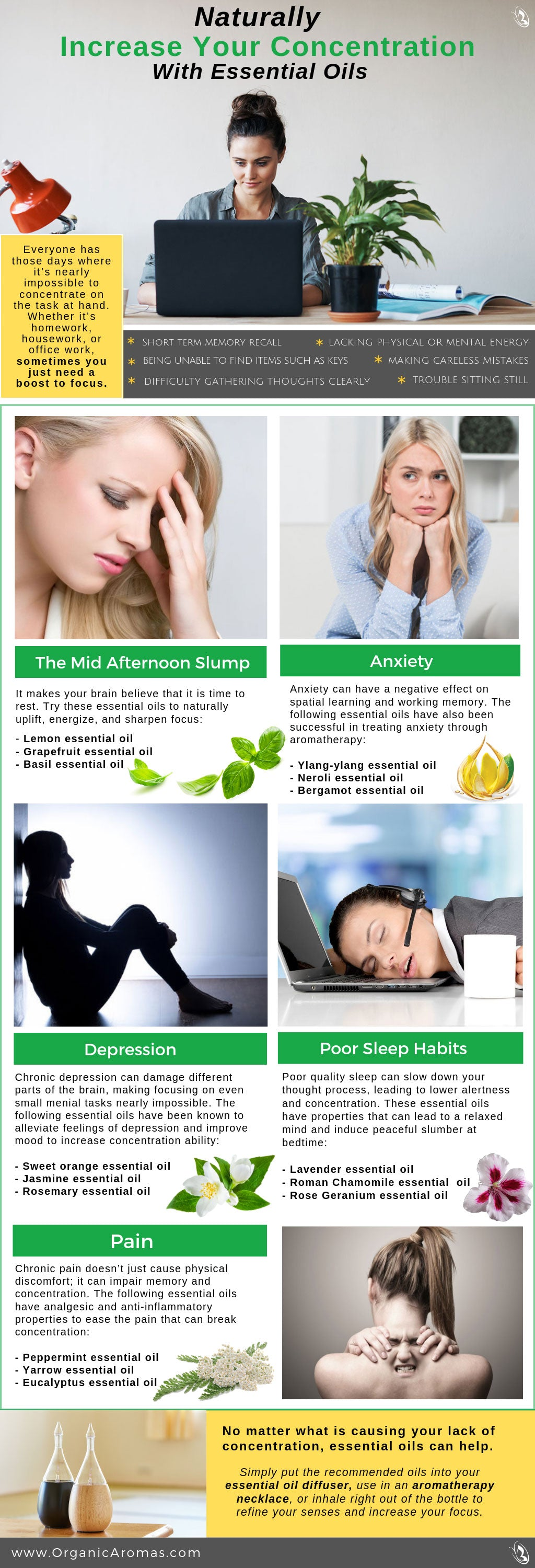 Naturally Increase Your Concentration With Essential Oils