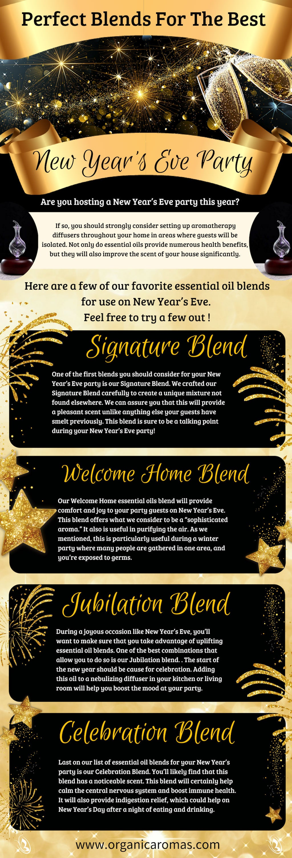 Perfect Blends For The Best New Year S Eve Party Organic Aromas