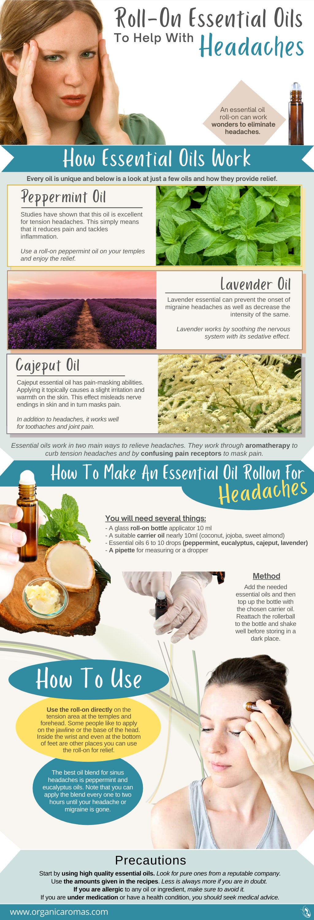 Roll-On Essential Oils To Help With Headaches