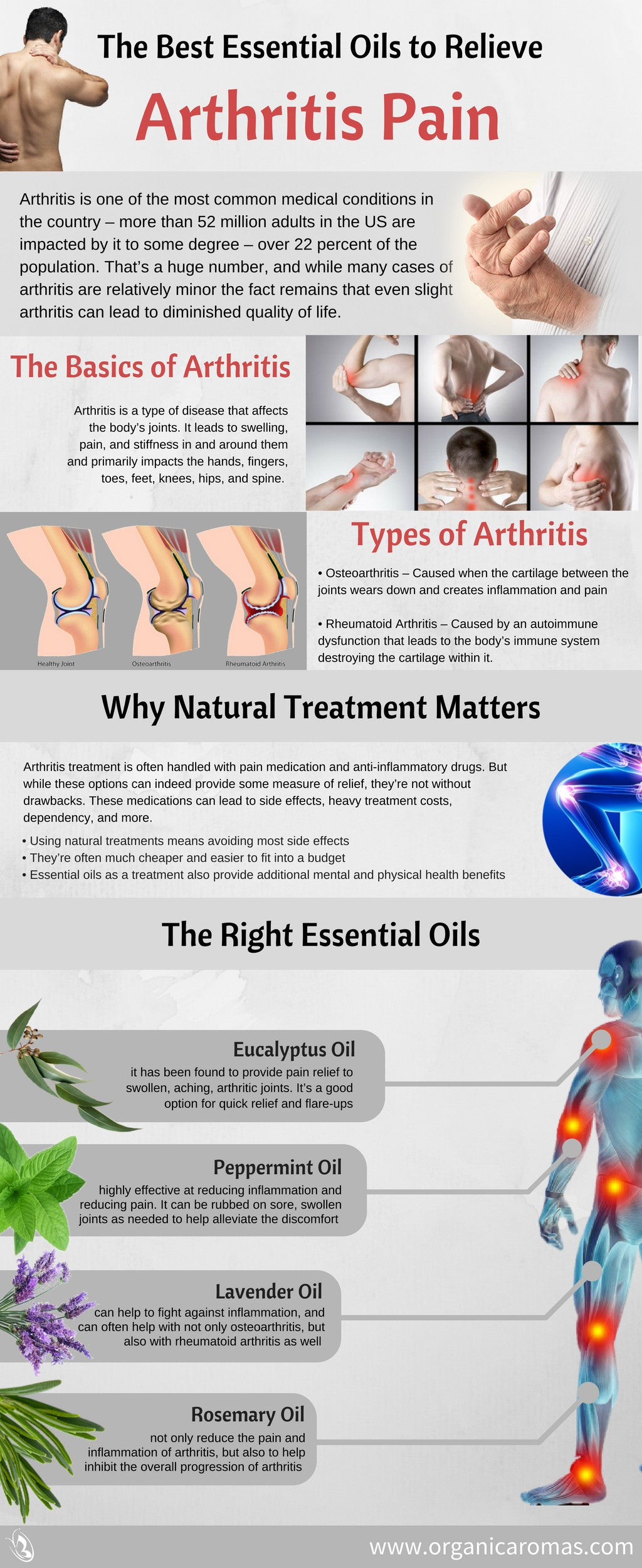 The Best Essential Oils To Relieve Arthritis Pain Organic Aromas