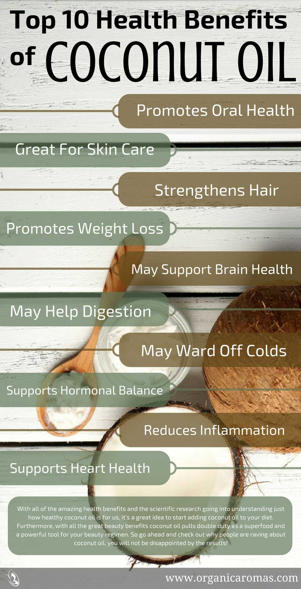 Top 10 Health Benefits of Coconut Oil Info-graphic