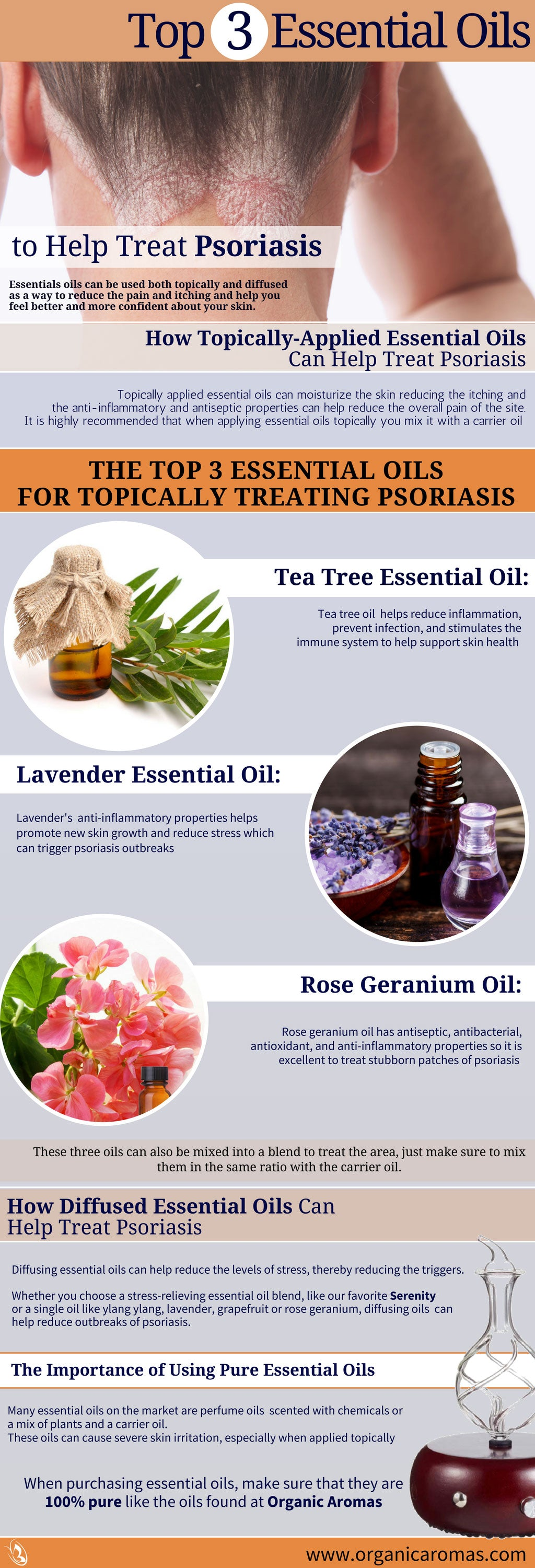 Top 3 Essential Oils to Help Treat Psoriasis - Organic Aromas