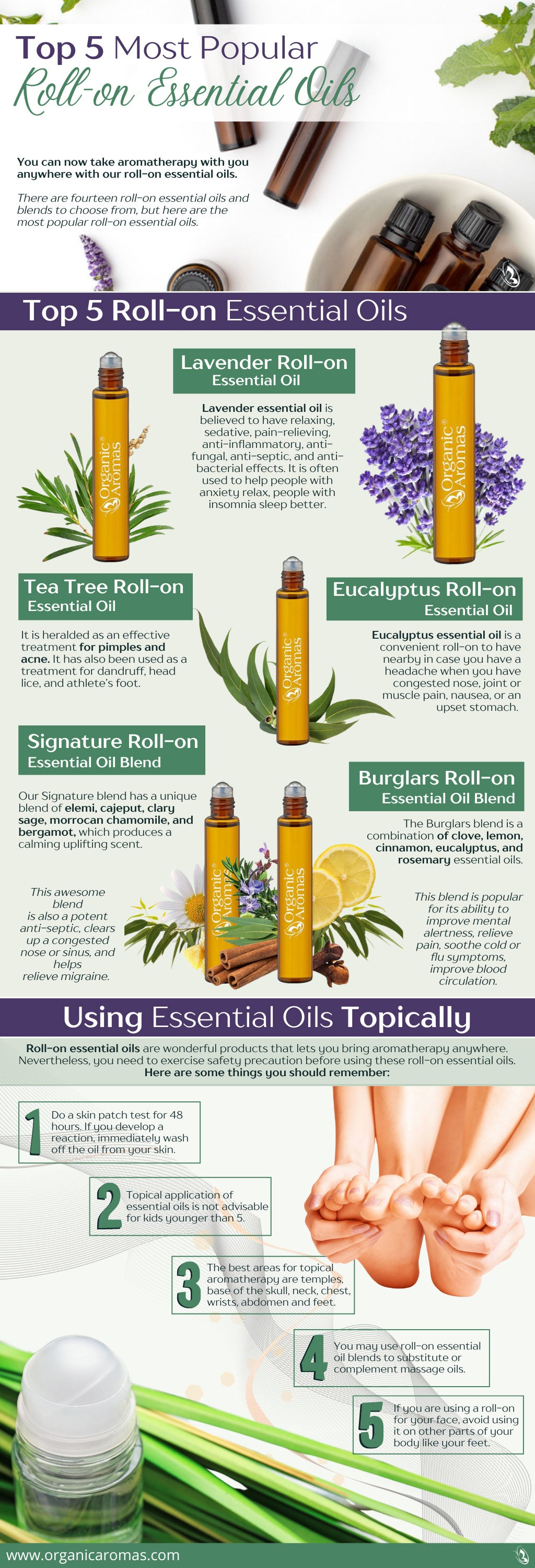 Top 5 Most Popular Roll-on Essential Oils