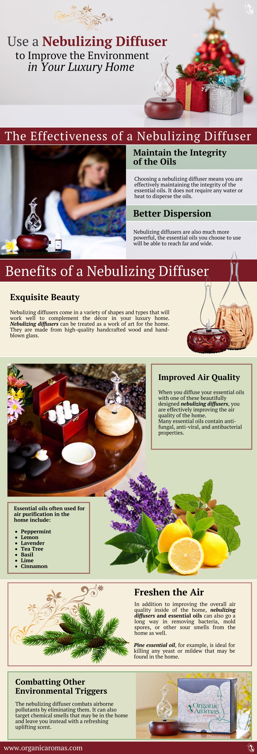Use a Nebulizing Diffuser to Improve the Environment in Your Luxury Home