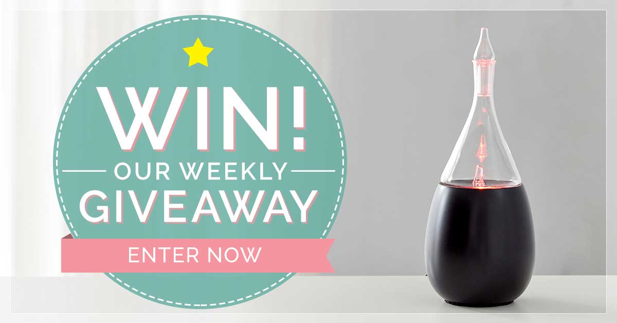 Weekly Giveaway Raindrop Nebulizing Diffuser by Organic Aromas