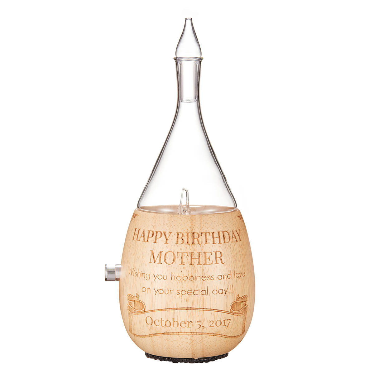 laser-engraved mothers day diffuser