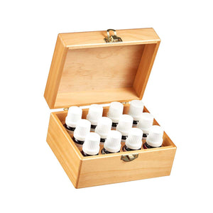 Master Aromatherapist Wooden Box of 12 Pure Essential Oils by Organic Aromas