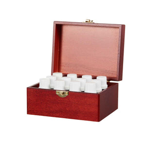 Wooden Box of 12 Essential Oils by Organic Aromas