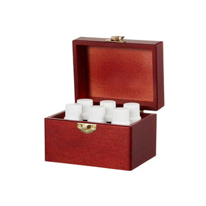 Wooden Box of 6 Essential Oils by Organic Aromas