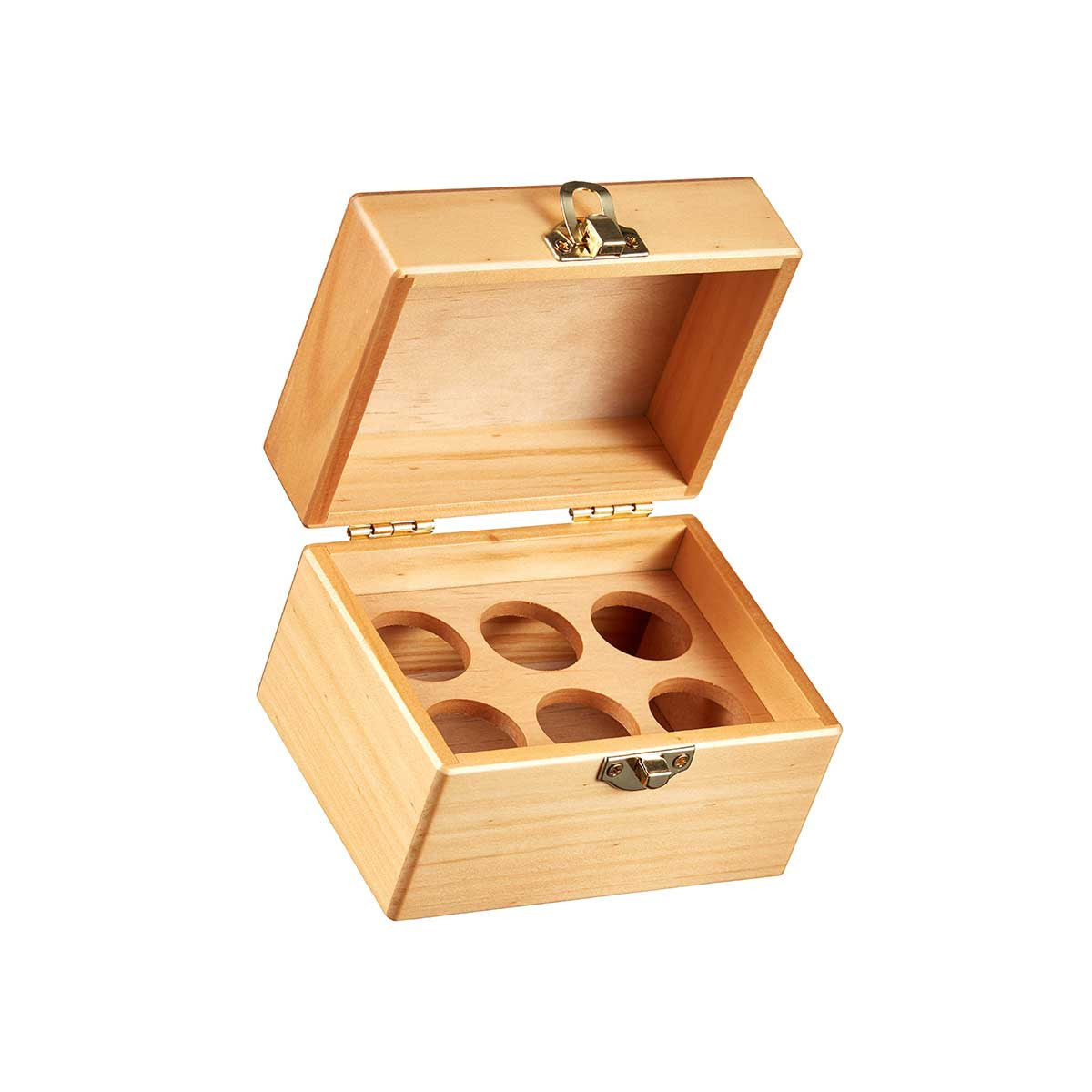 ... Empty Wood Storage Box For Six Essential Oils By Organic Aromas ...