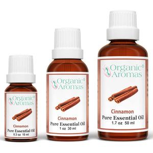 cinnamon pure essential oil by organic aromas all sizes