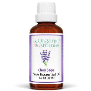 clary sage pure essential oil by organic aromas 50ml